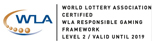 Level 2 Responsible Gaming Certification from World Lottery Association (WLA)